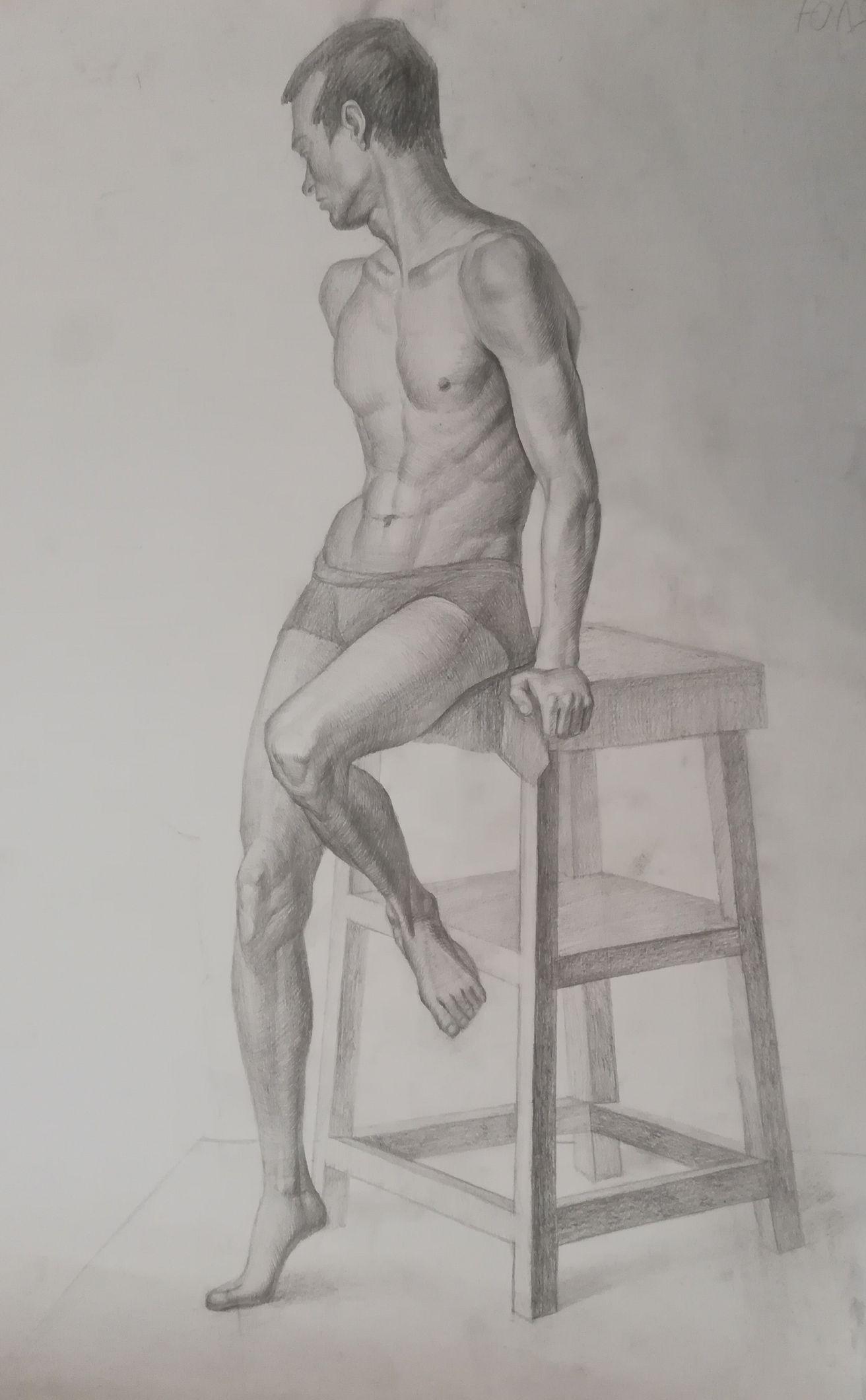 Нарисуй Обнаженного Человека