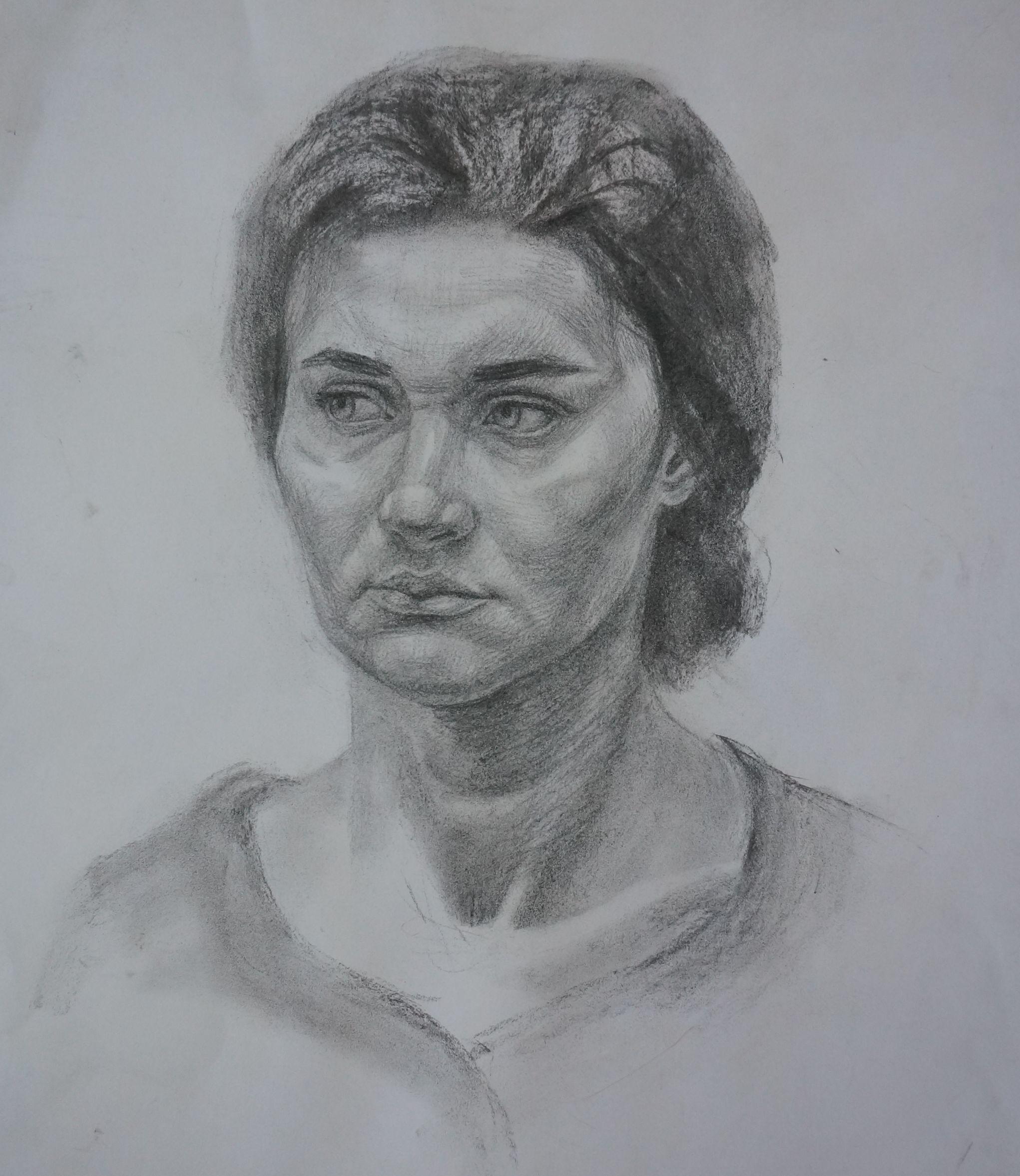 ней портрет с фото углем на заказ слово спасибо